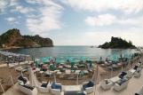 Strand vom Hotel la plage resort taormina